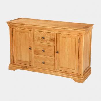 Tủ chén thấp 2 cánh 3 ngăn Victoria gỗ sồi IBIE DRVIC3SO